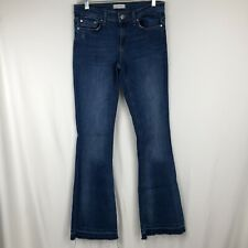 e382acb9 ZARA Woman flare Jeans size 4 Raw hem Medium Wash