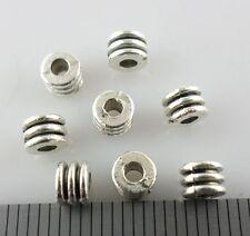 120pcs Tibetan Silver Small Tube Spacer Beads Jewelry Bracelet Beading 3x4mm