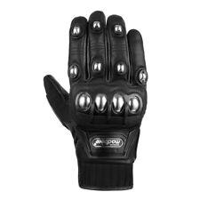 Genuine Leather Motorcycle Riding Gloves Motorbike Powersports Racing Hard Armor