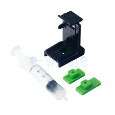 3in1 Ink Refill Cartridge Clip+2X Rubber Pads+Syringe No Needles for HP 60/61 TW