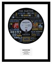 MANCHESTER BANDS - MEMORABILIA - VINYL RECORD ART - Ideal Gift