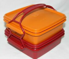 Tupperware 5 Pc Quartet Lunch Box Container Set with Handle #1362 1363 & 1365