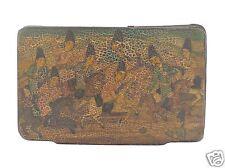 Fine & Rare Antique Persian Paper Mache Snuff Box - Qajar Qalamdan Lacquer - VR