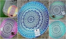 Indian Ombre Mandala YogaMat Ethnic Table Runner Tapestry Bedcover Round Roundie