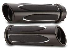 ARLEN NESS Deep Black Grips: 08-17 Harley Touring (Electronic Throttle) 07-053