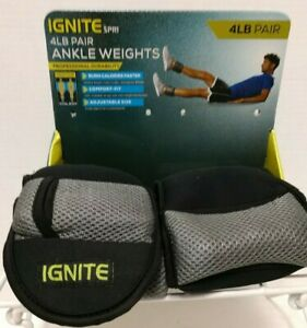 Ignite SPRI Wrist/Ankle Weights Set of 2 4lbs (8lbs total) Adjustable Workout