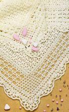 Crochet baby Christening Shawl done in 4ply wool- Crochet Pattern