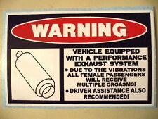 FUNNY WARNING EXHAUST MUFFLER SYSTEM PIPE PICKUP TRUCK CAR BIKE STICKER DECAL125
