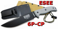 ESEE Model 6 Clip Point Plain With Molded Sheath 6P-CP NEW