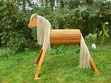 110cm Holzpferd Voltigierpferd Pferd Fuchs mit Maul wetterfest NEU !