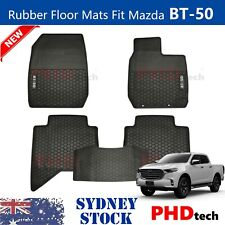All Weather Rubber FLOOR MATS Fit ALL NEW MAZDA BT50 BT-50 TF 2020~