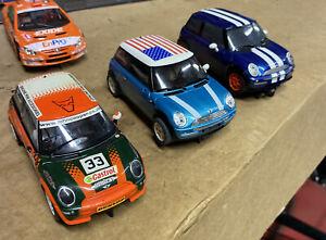 slot cars 1/32 Minis, 2x Scalectric 1x Ninco
