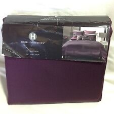 Hotel Collection Bedskirt Frame Mulberry Purple KING Bedskirt Retail $120.00