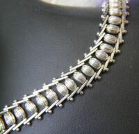"""3/8"""" wide moving barrel Vintage 0.925 Sterling Silver 8 1/4"""" Bracelet Anklet"""