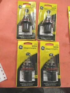 9004 GE--LOT OF 4---65/45W---HALOGEN Headlight Bulb