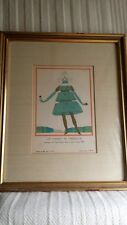 Framed Georges Lepape 1913 Gazette Du Bon Ton Art Deco Pochoir