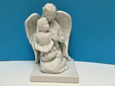 "Teleflora Holiday White Porcelain Figurine 2 Angels 8"" Tall"