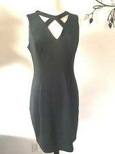 Guess Women's Black Neoprene Cut-Out Party Bodycon Dress 14