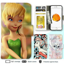 iPhone 8 7 Plus 6s X Case Tinkerbell Print Wallet Leather Cover For Apple SE 5 4