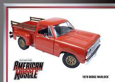 1978 Dodge WARLOCK Pickup Truck Sunfire Orange 1:18 Auto World 969