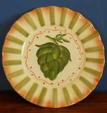 """A Hand painted country kitchen style 8"""" decorative plate Jay import"""