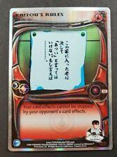 Yu Yu Hakusho TCG Alliance 1st Edition Kaitou's Rules