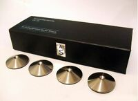 4 AudioSerenity Brushed Stainless Steel Hi-Fi Speaker, Stand or Rack Spike Pads