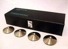 4 audioserenity ACCIAIO INOX SATINATO Altoparlante HI-FI, STAND o Rack Spike PADS