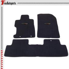 For 06-11 Honda Civic 2/4 Dr Black Floor Mats Front & Rear Nylon Carpet 3PCs Set