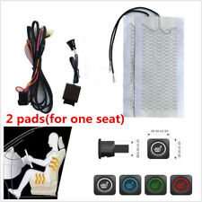2x Universal Carbon Fiber 12V Car Seat Heater 3 Files Switch Heating Pad Cover