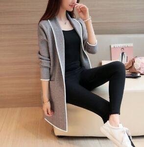 Women Winter Warm Long sleeve cardigan Coat Jacket Slim Parka Outwear Coats New
