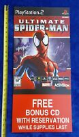 ULTIMATE SPIDER-MAN Store Display Sign 2005 Activision PlayStation PS2 Promo