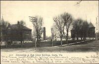 Sparta WI School Bldgs  c1910 Postcard rpx