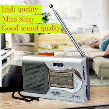 indin Radio Portátil Mini AM/FM Antena telescópica BOLSILLO MUNDIAL Receptor