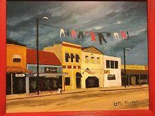 AWARD WINNER ART gold country town folk outsider realism USA historical America