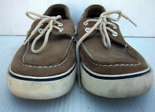 MAINSAIL - Men's Brown Leather Boat Deck Casual Shoes -- Size 9.5M