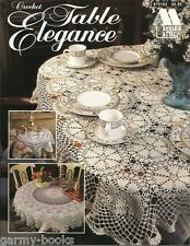Table Elegance Crochet Tablecloths Pattern Book Pineapple Annie's Attic NEW