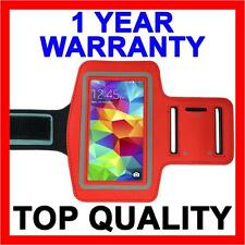 RED Sports Gym Armband Arm Band Running Case for Samsung Galaxy S5 S4 S3 S2 S 5
