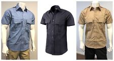 Mens Battle Security Police Uniform Short Sleeve Shirt - Size S - XXL