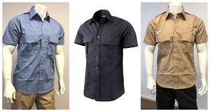 Mens Battle Security Police Uniform Short Sleeve Shirt - Size S - XXL