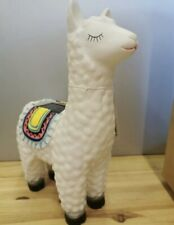SOLAR POWERED GLOW COLOUR CHANGING LLAMA X2 GARDEN ORNAMENT NEW AND BOXED