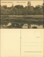 Ansichtskarte Bad Liebenwerda Partie an der Elster - Stadt 1918