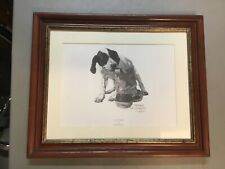"Herb Strasser ""Play Time� Ltd Ed Signed Print #309/600-Spaniel/Beagle Mix"