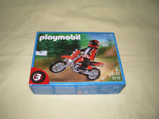 """  PLAYMOBIL 5115 BOX N°3 / MOTO CROSS AVEC PILOTE / RALLYE COURSE NEUF"