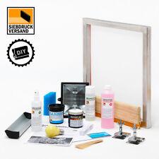 SIEBDRUCK Starterset mit Anleitung, Sieb, Rakel, Emulsion, Farbe usw.| DIY PRINT