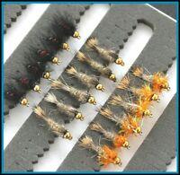 Barbed BARBLESS CARP UK #10 12 or 14 set 33j-27 Trout Flies
