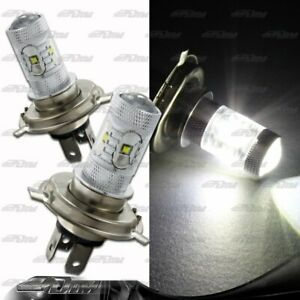 1x Pair Chevrolet Honda Geo H4 9003 HB2 30 Watt 6 LED White Projector Bulbs