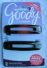 2 Goody Ouchless Plastic Stay Put Secure Fit Hair No Metal Barrettes Velvet Hold