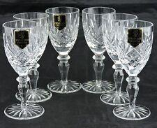 VINTAGE EDINBURGH CRYSTAL SHERRY/PORT GLASS/GOBLET SET 6 NIB STEMWARE BARWARE
