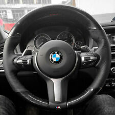 Carbon Fiber&PU Leather Steering Wheel Stitch on Wrap Cover For BMW X5 F15 13-18